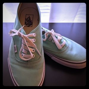 Mint Green Vans - Woman's Size 10